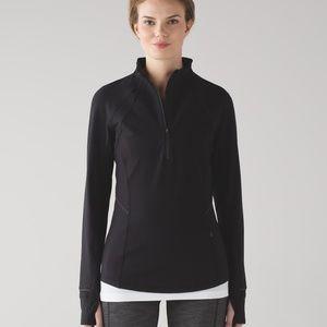 lululemon athletica Sweaters - LULULEMON FRESH TRACKS 1/2 ZIP BLACK PULLOVER TOP